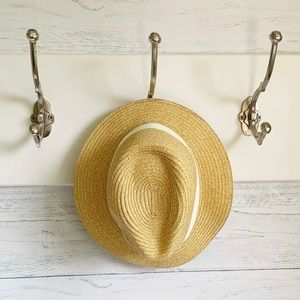 & Other Stories Natural Straw Hat Cream Band